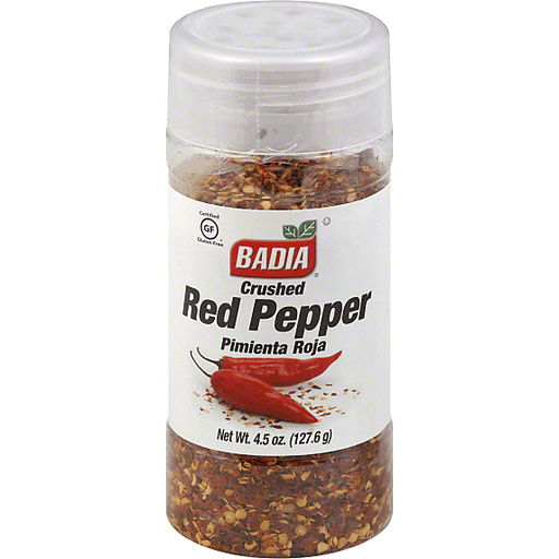 BADIA SPICES CRUSHED RED PEPPER – 4.5 OZ.