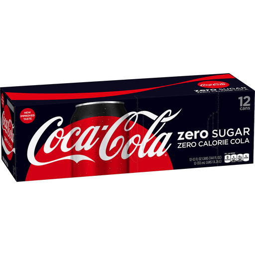 COCA-COLA ZERO SUGAR FRIDGE PACK CANS, 12 FL OZ, 12 PACK
