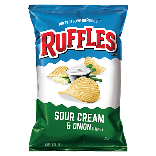 RUFFLES SOUR CREAM & ONION CHIPS 6.5 OZ
